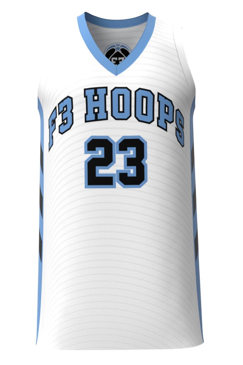 F3 White Basketball Uniform