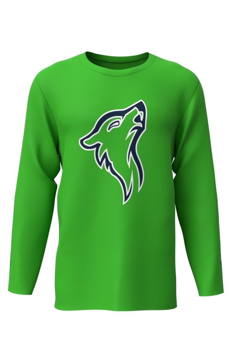 Dry Fit Green Long Sleeve T Shirt