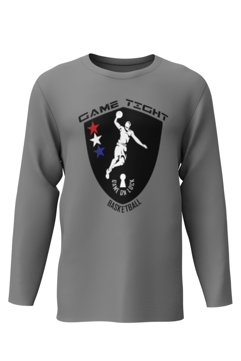 Dry Fit Long Sleeve T Shirt Gray