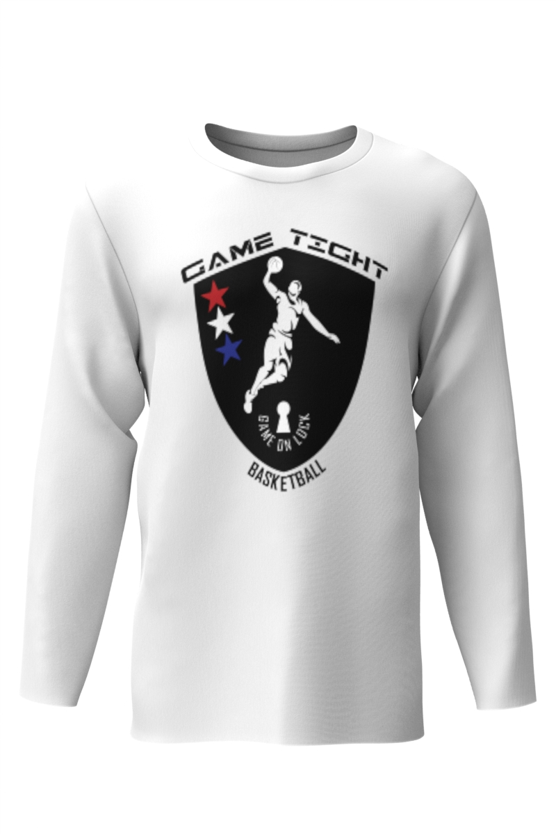 Dry Fit Long Sleeve T Shirt White
