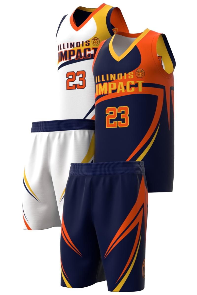 Boys Basketball Uniform Reversible