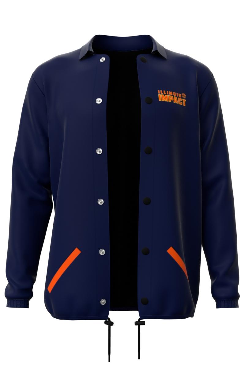 Navy Blue Coaches Jacket