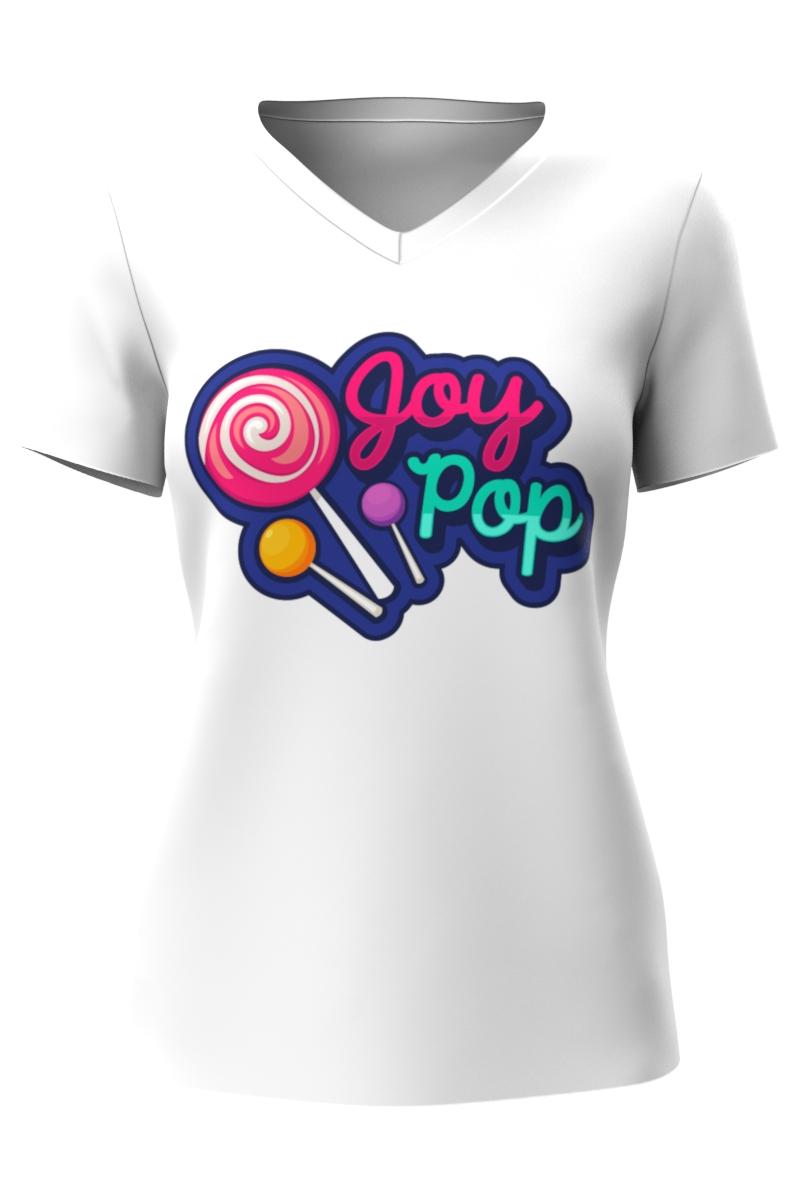 White V-neck Female T-shirt