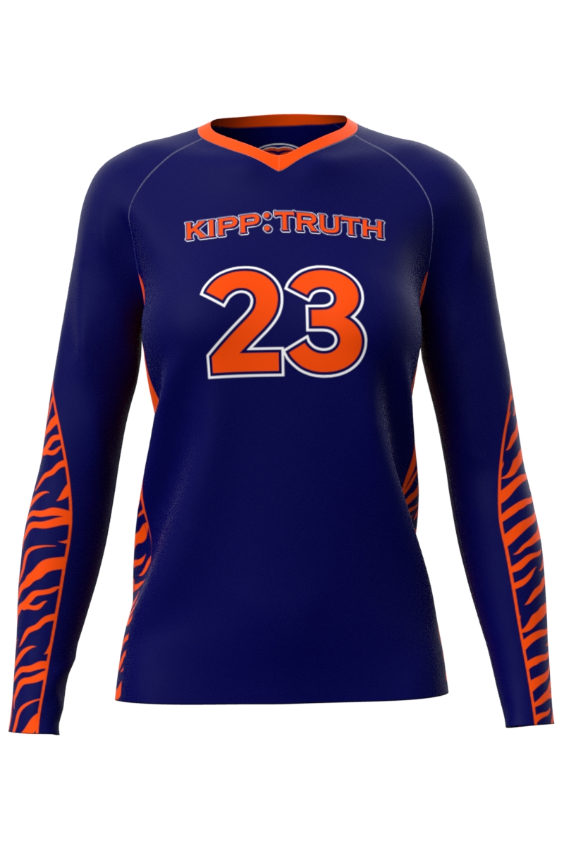 Blue Volleyball Long Sleeve