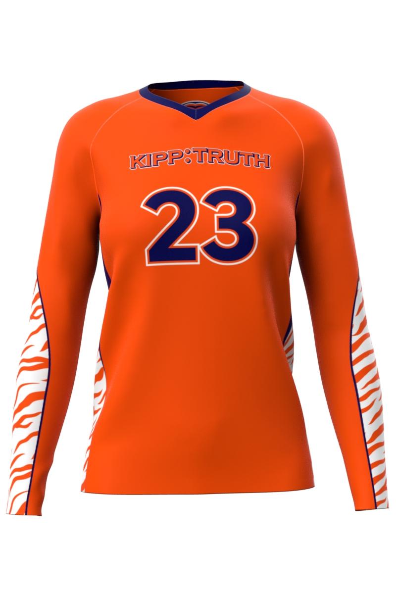 Orange Volleyball Long Sleeve