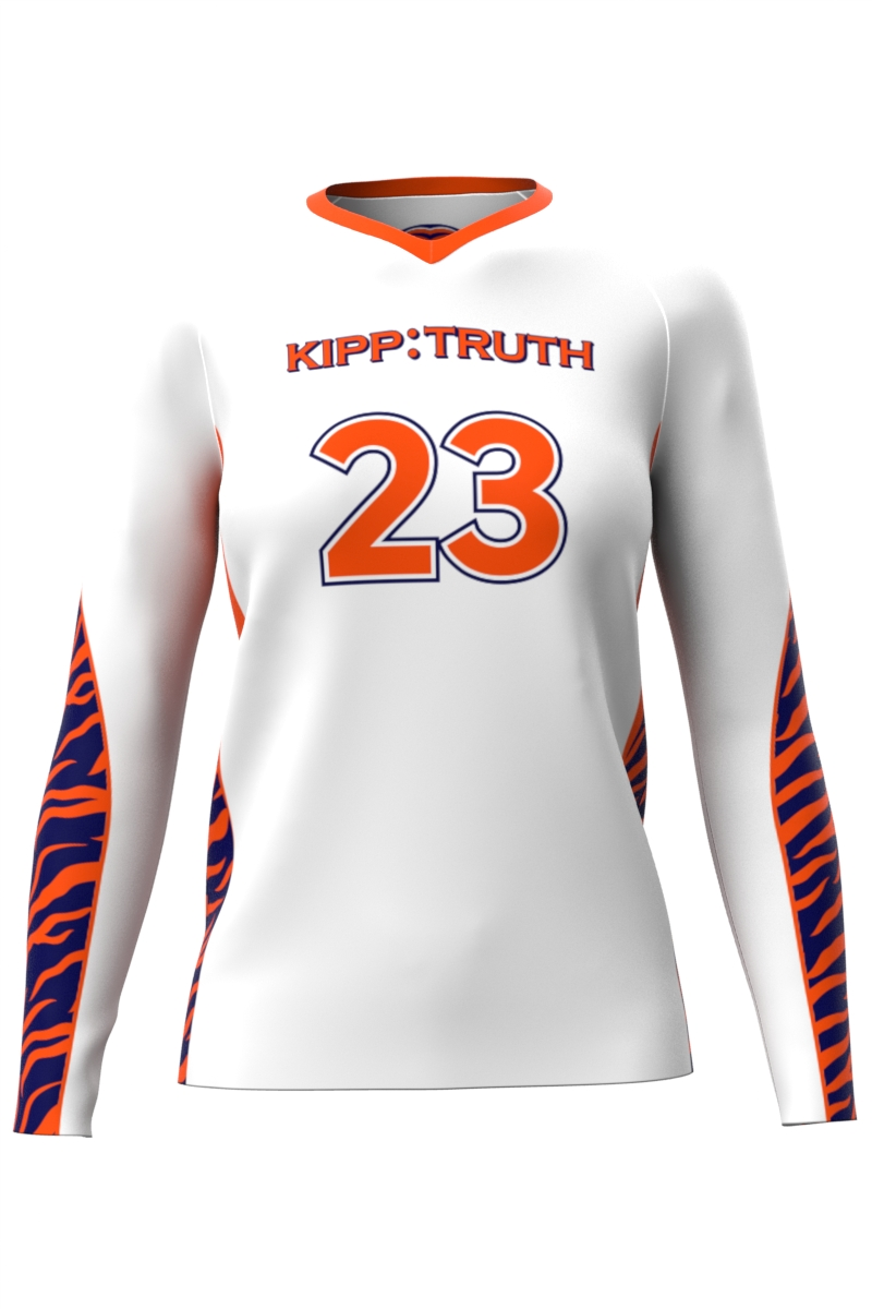 White Volleyball Long Sleeve