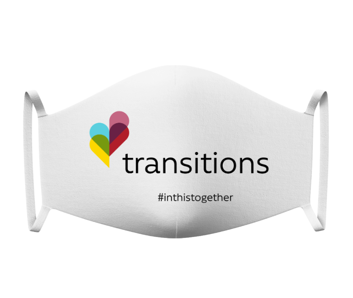 Transitions Mask White